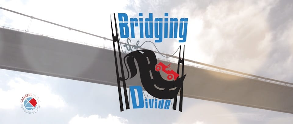 Bridging the Divide teambuilding aktivita na konferenciu event logo